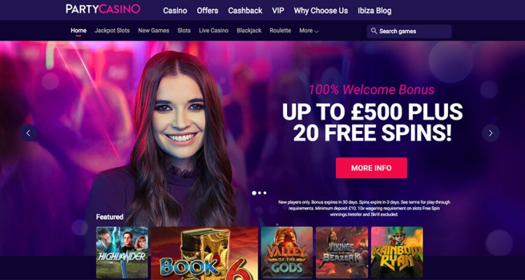 Party Casino Review and Bonuses